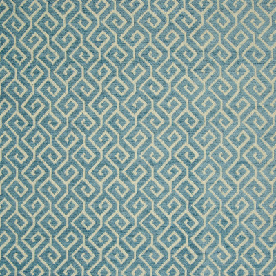 B8298 Aqua Fabric: E09, AQUA GREEK KEY, TEAL GREEK KEY, CHENILLE GREEK KEY, WOVEN GEOMETRIC, WOVEN LATTICE