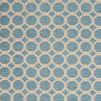 B8301 Teal Fabric: E62, E09, SMALL SCALE GEOMETRIC, OCTAGON, CHAIR SCALE GEOMETRIC, TEAL, AQUA, WOVEN LATTICE