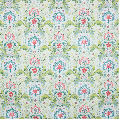 B8302 Orchard Fabric: E09, GREEN COTTON PRINT, GREEN FLORAL PRINT, SCROLL PRINT, LEAFY GREEN PRINT