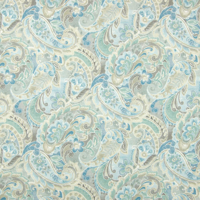 B8317 Spa Fabric: E10, AQUA FLORAL PRINT, SCROLL FLORAL PRINT, MULTICOLORED FLORAL PRINT, COTTON PRINT, TEAL FLORAL PRINT, WATERCOLOR SCROLL, WATERCOLOR INSPIRED, PAISLEY PRINT, LIGHT BLUE PAISLEY PRINT, LARGE SCALE PAISLEY PRINT