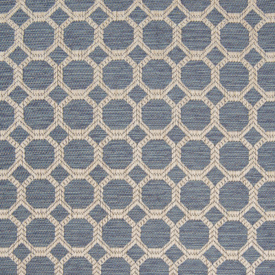 B8327 Baltic Fabric: E10, OCTOGON, WOVEN GEOMETRIC, BLUE OCTOGON, BLUE GEOMETRIC, HONEYCOMB SHAPE