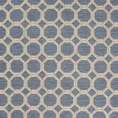 B8327 Baltic Fabric: E10, OCTAGON, WOVEN GEOMETRIC, BLUE OCTAGON, BLUE GEOMETRIC, HONEYCOMB SHAPE
