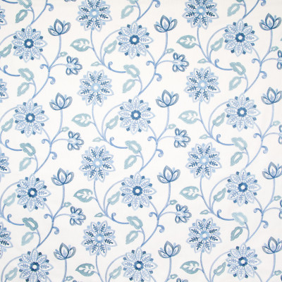 B8330 Harbor Fabric: E10, BLUE FLORAL PRINT, MEDIUM SCALE FLORAL PRINT, BLUE FLORAL EMBROIDERY, BLUE EMBROIDERY, PETALS, FLOWER PETALS