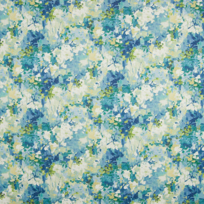 B8335 Island Blue Fabric: E10, BLUE FLORAL PRINT, BLUE FLORAL COTTON PRINT, MULTICOLORED FLORAL PRINT, COTTON PRINT, LARGE SCALE FLORAL PRINT, CONTEMPORARY FLORAL PRINT, WATERCOLOR INSPIRED PRINT