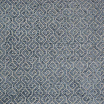 B8342 Sapphire Fabric: E10, GREEK KEY CHENILLE, GEOMETRIC CHENILLE, DARK BLUE CHENILLE, PATTERNED CHENILLE, WOVEN CHENILLE, LATTICE