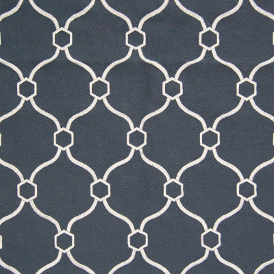 B8345 Indigo Fabric: E10, DARK BLUE GEOMETRIC EMBROIDERY, MIDNIGHT BLUE GEOMETRIC EMBROIDERY, GEOMETRIC EMBROIDERY, DARK OCEAN BLUE,LATTICE