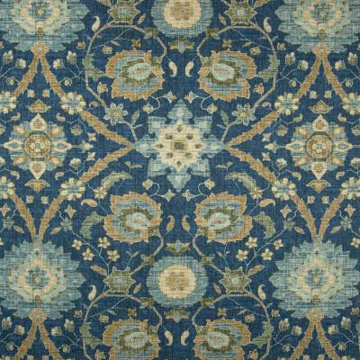 B8349 Bristol Fabric: E10, DARK BLUE MEDALLION PRINT, COTTON PRINT, LARGE SCALE MEDALLION FLORAL PRINT, LARGE SCALE MEDALLION, LARGE SCALE FLORAL PRINT