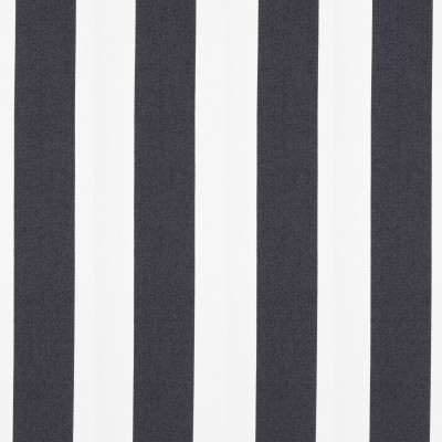 B8814 Ebony Fabric: E17, CABANA STRIPE, BLACK AND WHITE STRIPE, ONYX AND WHITE STRIPE, WIDE WIDTH STRIPE, OUTDOOR PERFORMANCE, PERFORMANCE FABRIC, BLEACH CLEANABLE, MILDEW RESISTANCE, MILDEW RESISTANCE, DURABLE OUTDOOR FABRIC, UV RESISTANT, SOLID TWILL, TWILL, 100% HIGH UV COMMERCIAL GRADE POLYESTER