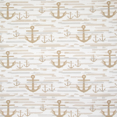 B8824 Bone Fabric: E18, OUTDOOR FABRIC, INDOOR / OUTDOOR FABRIC, OUTDOOR PERFORMANCE FABRIC, BLEACH CLEANABLE, UV RESISTANT, ANTI-MICROBIAL, STAIN RESISTANT, ANCHOR, SHIP ANCHOR, NAVY ANCHOR, NOVELTY