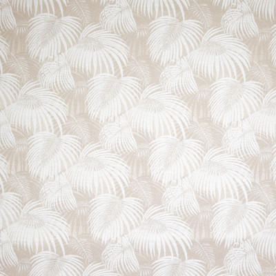 B8830 Bone Fabric: E18, OUTDOOR FABRIC, INDOOR / OUTDOOR FABRIC, OUTDOOR PERFORMANCE FABRIC, BLEACH CLEANABLE, UV RESISTANT, ANTI-MICROBIAL, STAIN RESISTANT, PALM LEAVES, PALM LEAF, TROPICAL PALM
