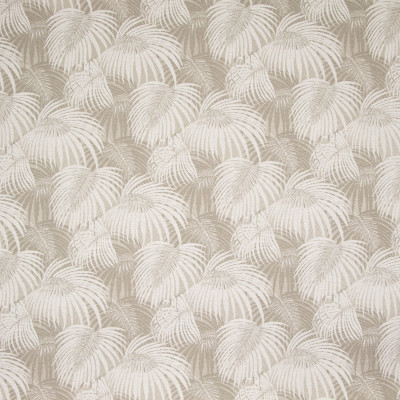 B8848 Oatmeal Fabric: E18, OUTDOOR FABRIC, INDOOR / OUTDOOR FABRIC, OUTDOOR PERFORMANCE FABRIC, BLEACH CLEANABLE, UV RESISTANT, ANTI-MICROBIAL, STAIN RESISTANT, PALM LEAVES, PALM LEAF, TROPICAL PALM