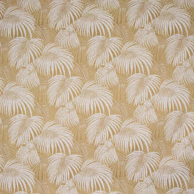 B8855 Golden Fabric: E18, OUTDOOR FABRIC, INDOOR / OUTDOOR FABRIC, OUTDOOR PERFORMANCE FABRIC, BLEACH CLEANABLE, UV RESISTANT, ANTI-MICROBIAL, STAIN RESISTANT, PALM LEAVES, PALM LEAF, TROPICAL PALM