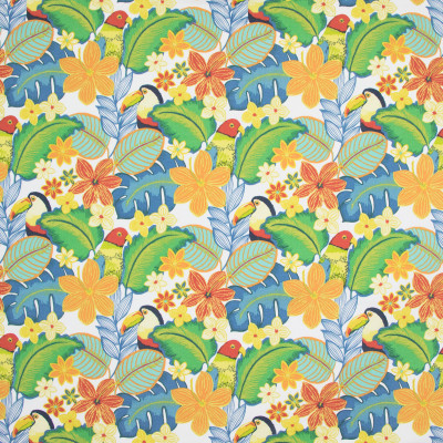 B8872 Tropical Fabric: E19, , STAIN RESISTANT, OUTDOOR FABRIC, INDOOR / OUTDOOR FABRIC, FAMILY FRIENDLY FABRIC, FADE RESISTANT UP TO 500 HOURS OF DIRECT SUN EXPOSURE, BIRD, PARROT