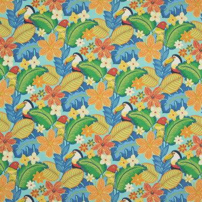 B8876 Pacific Fabric: E19, , STAIN RESISTANT, OUTDOOR FABRIC, INDOOR / OUTDOOR FABRIC, FAMILY FRIENDLY FABRIC, FADE RESISTANT UP TO 500 HOURS OF DIRECT SUN EXPOSURE, BIRD, PARROT