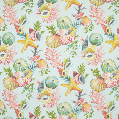 B8884 Seamist Fabric: E19, STAIN RESISTANT, OUTDOOR FABRIC, INDOOR / OUTDOOR FABRIC, FAMILY FRIENDLY FABRIC, FADE RESISTANT UP TO 500 HOURS OF DIRECT SUN EXPOSURE, SHELL, SHELLS, SEASHELLS