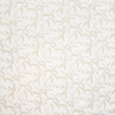B9110 Birch Fabric: E24, FLORAL EMBROIDERY, LEAFY EMBROIDERY, EMBROIDERY, NEUTRAL EMBROIDERY