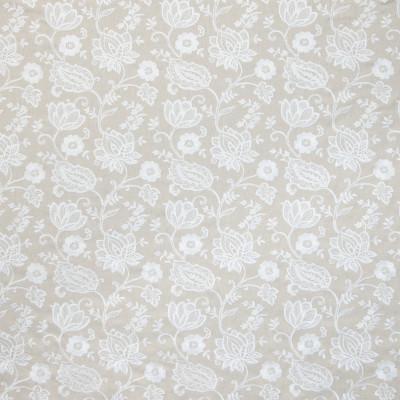 B9135 Beach Fabric: E24, NEUTRAL FLORAL EMBROIDERY, FLORAL EMBROIDERY, LARGE SCALE FLORAL EMBROIDERY