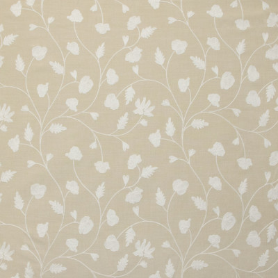 B9137 Dune Fabric: E24, FLORAL EMBROIDERY, LEAFY EMBROIDERY, EMBROIDERY, NEUTRAL EMBROIDERY