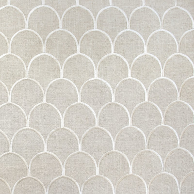 B9144 Cloud Fabric: E24, SCALLOP EMBROIDERY, SHELL EMBROIDERY, NEUTRAL EMBROIDERY, TAUPE EMBROIDERY