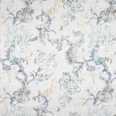 B9162 Robins Egg Fabric: E25, LIGHT GRAY LINEN PRINT, LIGHT GREY LINEN PRINT, RAYON PRINT, FLORAL PRINT