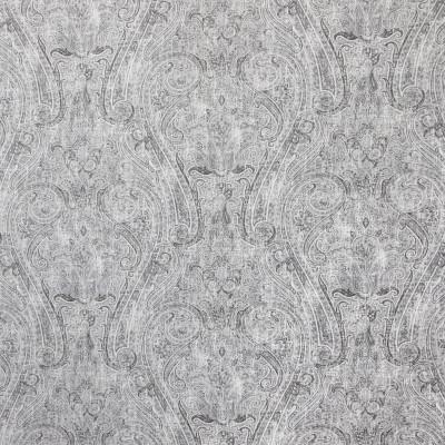 B9182 Moonstone Fabric: E25, GRAY LINEN PRINT, GREY LINEN PRINT, PAISLEY PRINT, LARGE SCALE PAISLEY PRINT