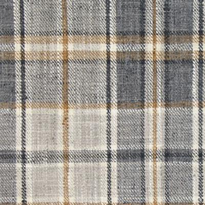 B9193 Charcoal Fabric: E25, WOVEN PLAID, CHECK PLAID, NEUTRAL PLAID, BLACK PLAID, GRAY PLAID, GREY PLAID, MULTICOLORED PLAID, MULTICOLORED CHECK