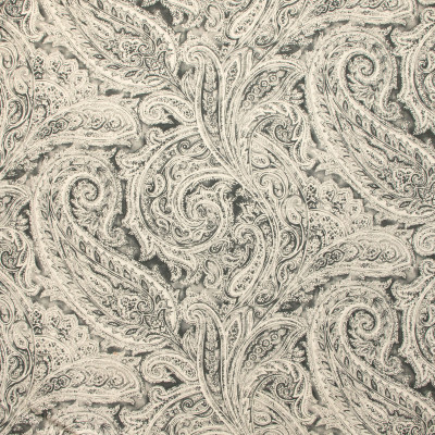 B9205 Zinc Fabric: E25, LARGE SCALE PAISLEY PRINT, PAISLEY PRINT, BLACK PAISLEY PRINT, LARGE GREY PAISLEY PRINT, LARGE GRAY PAISLEY PRINT