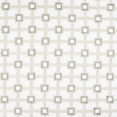 B9210 Opal Fabric: E26, SQUARE EMBROIDERY, GEOMETRIC EMBROIDERY, NEUTRAL EMBROIDERY, OPAL EMBROIDERY
