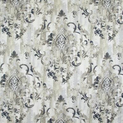 B9242 Fog Fabric: E26, GRAY SCROLL, CHARCOAL SCROLL PRINT, GREY SCROLL PRINT, LARGE SCALE SCROLL PRINT