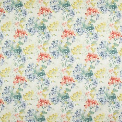 B9269 Primavera Fabric: E27, FLORAL PRINT, COTTON FLORAL PRINT, BOTANICAL FLORAL PRINT, FLORAL COTTON PRINT, MULTICOLORED FLORAL PRINT