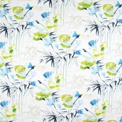 B9275 Bluegrass Fabric: E27, BLUE FLORAL PRINT, GREEN FLORAL PRINT, MULTICOLORED FLORAL PRINT, COTTON PRINT