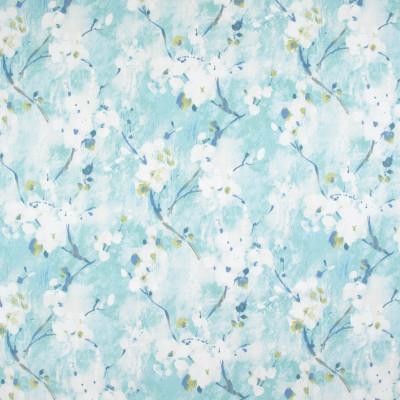 B9277 Breeze Fabric: E27, BLUE FLORAL PRINT, AQUA FLORAL PRINT, LARGE SCALE FLORAL PRINT