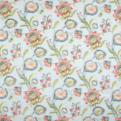 B9279 Robins Egg Fabric: E27, PINK FLORAL, BLUE FLORAL PRINT, PINK FLORAL PRINT, LARGE SCALE FLORAL PRINT, COTTON PRINT