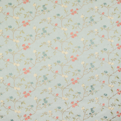 B9289 Meadow Fabric: E27, TEAL FLORAL EMBROIDERY, BLUE FLORAL EMBROIDERY, AQUA FLORAL EMBROIDERY, FLORAL EMBROIDERY