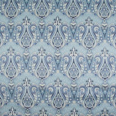 B9305 Porcelain Fabric: E27, BLUE PAISLEY, LARGE SCALE PAISLEY, LARGE SCALE FLORAL PRINT, LARGE SCALE PAISLEY PRINT, COTTON PRINT