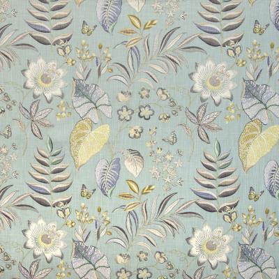 B9327 Frost Fabric: E28, FLORAL PRINT, LIGHT SEAFOAM PRINT, FLORAL PRINT, LARGE SCALE FLORAL PRINT