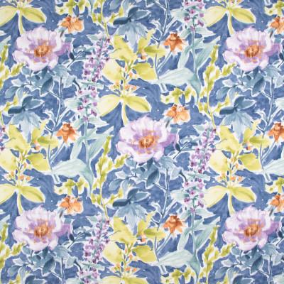 B9336 Cornflower Fabric: E36, E28, FLORAL PRINT, CONTEMPORARY FLORAL PRINT, COTTON PRINT, BLUE CORNFLOWER