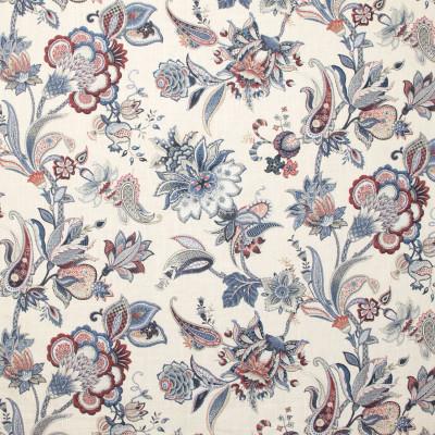 B9345 Denim Fabric: E36, E28, BLUE FLORAL PRINT, FLORAL PRINT, FLORAL COTTON PRINT, COTTON PRINT, INDIGO, NAVY PRINT