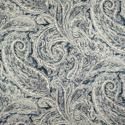 B9350 Heritage Fabric: E36, E28, BLUE PAISLEY, LARGE SCALE PAISLEY, PAISLEY PRINT, COTTON PRINT, NAVY, INDIGO, ADMIRAL, NAVY, SAPPHIRE