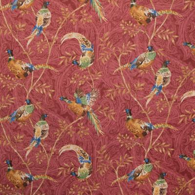 B9388 Chianti Fabric: S05, E29, RED PAISLEY PRINT, ANIMAL PRINT, LARGE SCALE PAISLEY PRINT, LARGE SCALE PRINT, ANNA ELISABETH