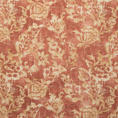 B9393 Pompeii Fabric: E29, FLORAL, RED, GOLD, PRINT, FLORAL PRINT