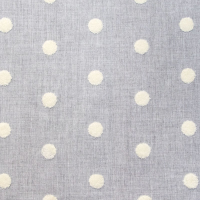 B9441 Platinum Fabric: E31, GRAY POLKA DOT, POLKA DOT EMBROIDERY, PUFFY DOT, GREY POLKA DOT