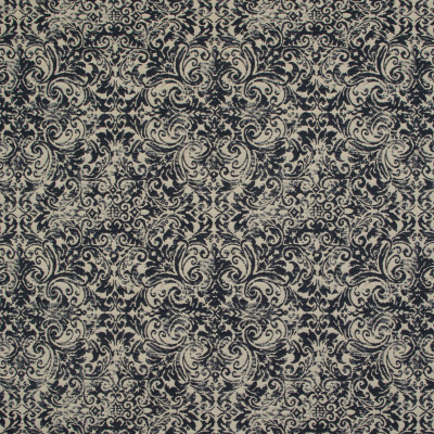 B9465 Black Tan Fabric: E31, BLACK MEDALLION, VINTAGE MEDALLION, SCROLL, JACQUARD