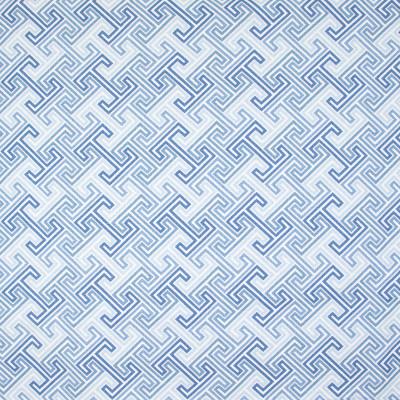 B9478 Denim Fabric: E32, BLUE PRINT, BLUE DIAMOND PRINT, COTTON PRINT, GREEK KEY PRINT