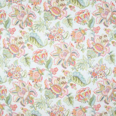 B9510 Summer Fabric: E33, COTTON PRINT, FLORAL PRINT, LARGE SCALE FLORAL PRINT, PINK FLORAL PRINT, GREEN FLORAL PRINT
