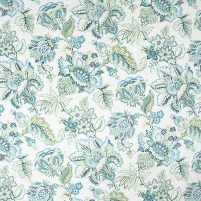 B9517 Seafoam Fabric: E33, FLORAL PRINT, LARGE SCALE FLORAL PRINT, COTTON PRINT, TEAL COTTON PRINT, AQUA, TURQUOISE