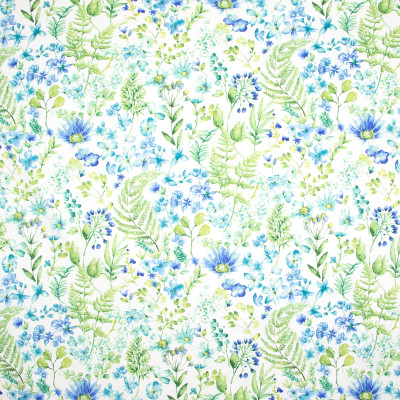 B9519 Rain Fabric: E38, E33, FLORAL PRINT, LARGE SCALE FLORAL PRINT, COTTON PRINT, TEAL COTTON PRINT, AQUA, TURQUOISE, GREEN FLORAL PRINT, BLUE FLORAL PRINT