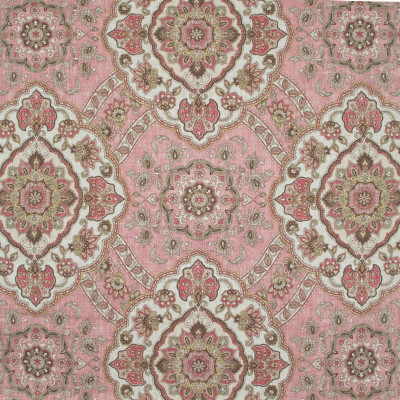 B9597 Dusty Rose Fabric: E35, DUSTY MAUVE MEDALLION, MEDALLION PRINT, LINEN PRINT, DUSTY ROSE FLORAL PRINT, LINEN PRINT