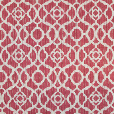 B9612 Crimson Red Fabric: E35, RED GEOMETRIC, GEOMETRIC COTTON, MEDALLION, RED MEDALLION