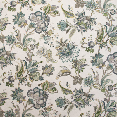 B9622 Haze Fabric: E36, TEAL FLORAL PRINT, LARGE SCALE FLORAL PRINT, TEAL, AQUA